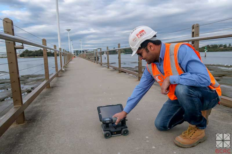 BCRC durability consultant checking with advance ground penetration radar at Sydney Harbour Wharf Project image